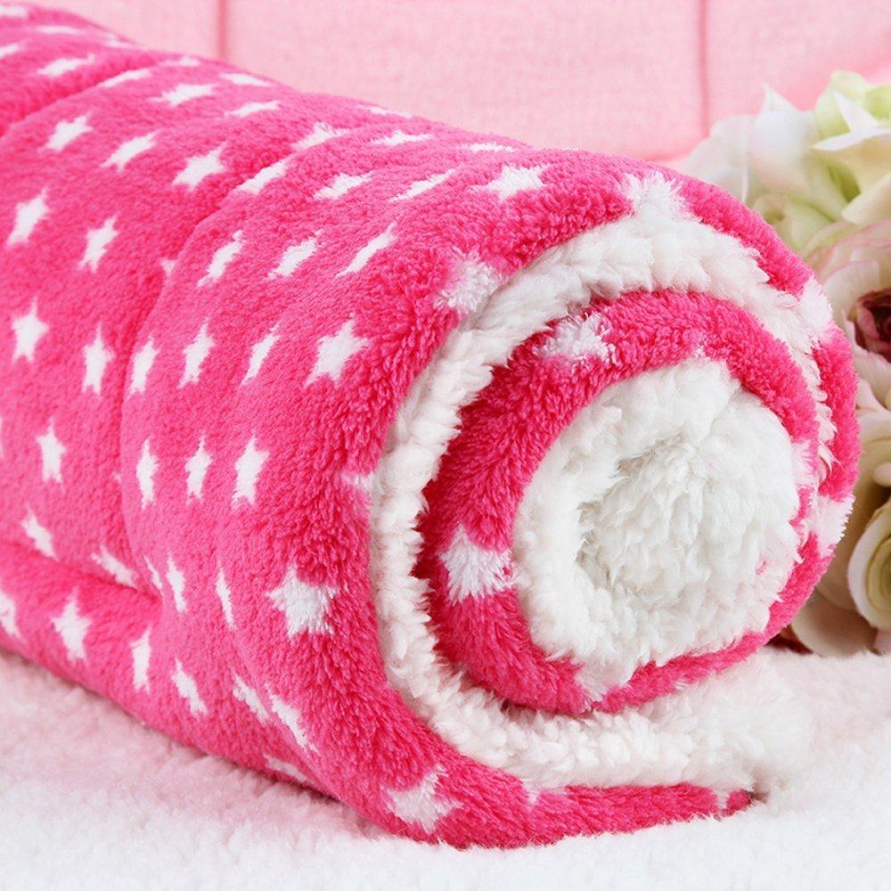 OHlive Cozy Pet Letto Letto Letto Coperte in Pile Super Morbido Cucciolo di Cane Gatto Cuscino tappetini (L  70  55 cm, rosa Star) f99678