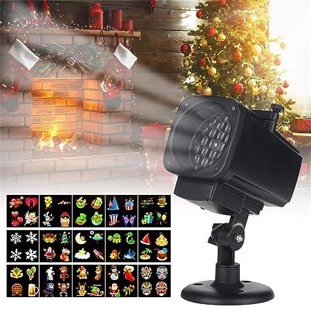 YLOVOW Luz del proyector, Luces de Navidad Proyector 18-en-1 Lente ...