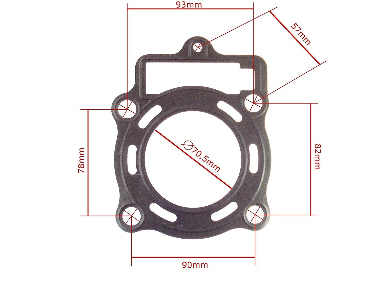 Loncin 250cc Hmparts Top End // Culasse Wk Dirt Bike// Quad 69mm