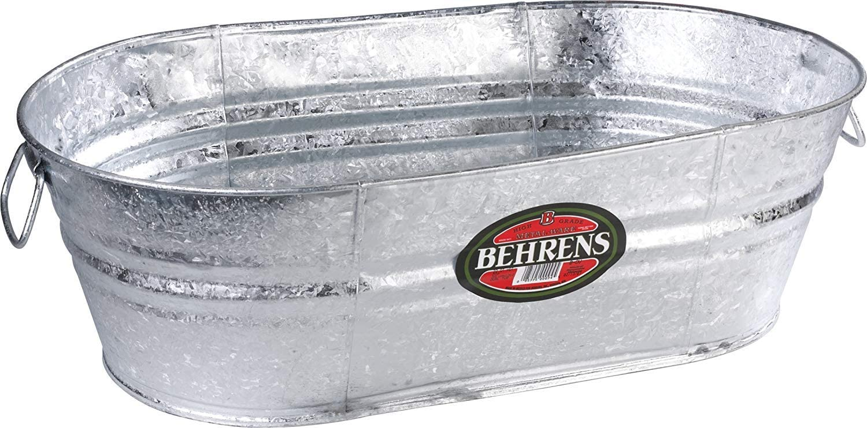 Behrens Tub 5.5 Gal Oval Galvanized