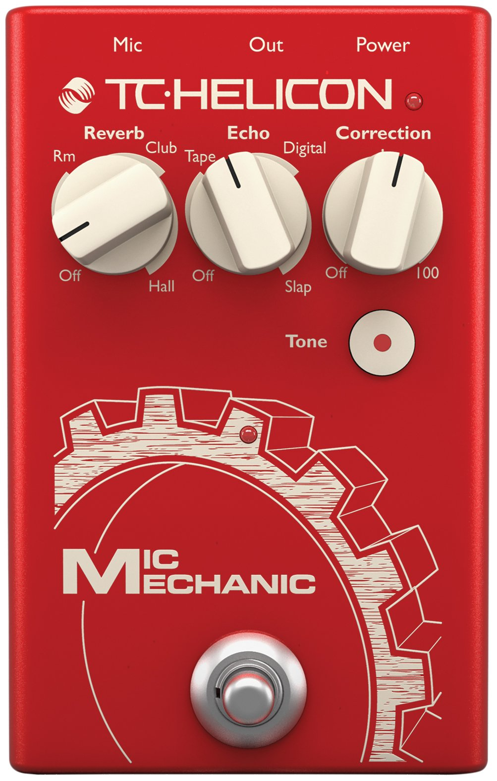 TC Helicon''TC Helicon VoiceTone Mic Mechanic 2 Reverb, Delay, Pitch Correction Pedal''