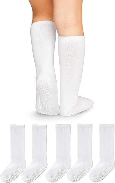 LA Active Calcetines Altos Rodilla Antideslizantes - para Bebé Niños Niñas Infantil - Algodón: Amazon.es: Ropa y accesorios