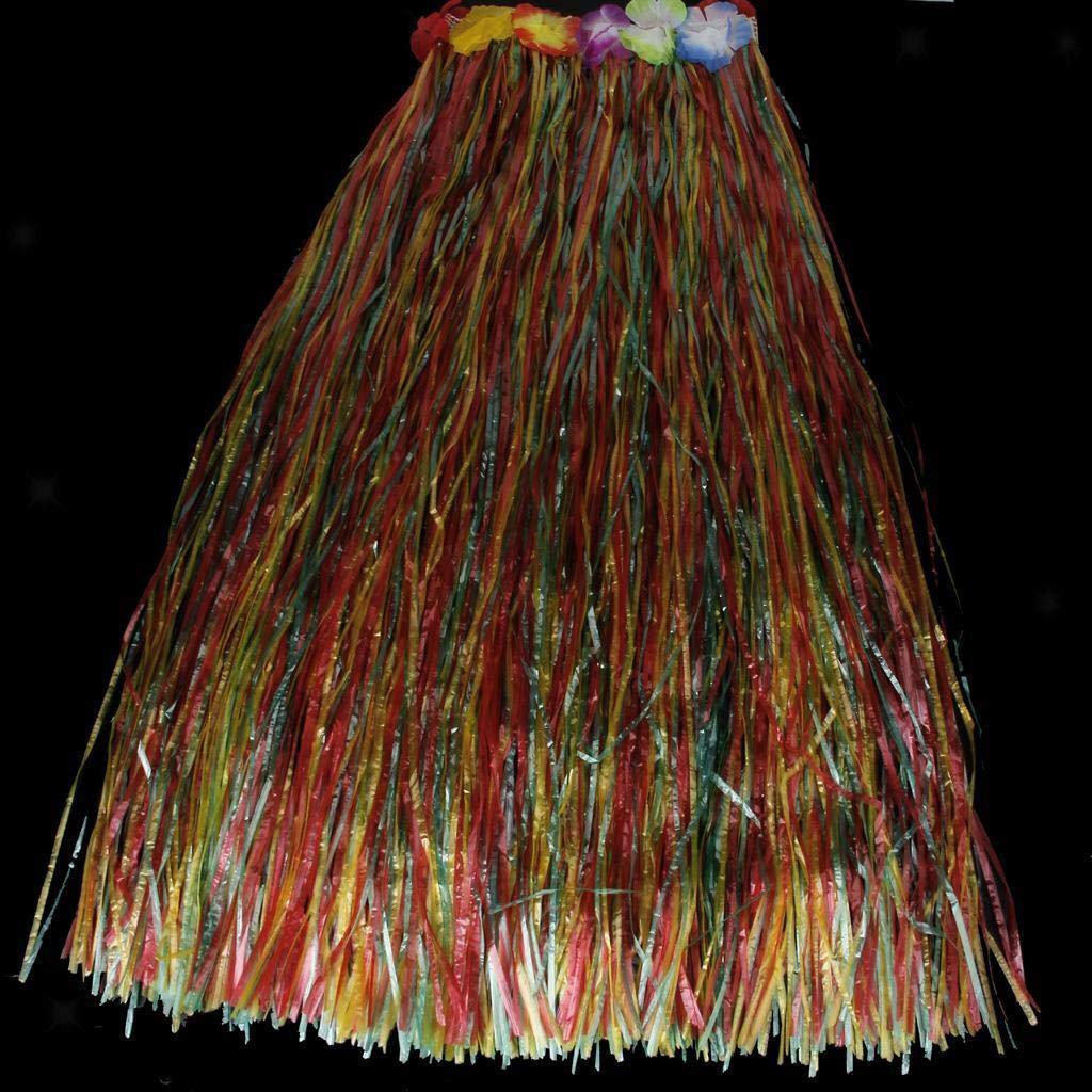 FidgetGear Falda Hawaiana para césped, Hula Luau Tropical, 31.4 ...