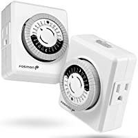 Deals on Fosmon Indoor 24 Hour Mechanical Outlet Timer