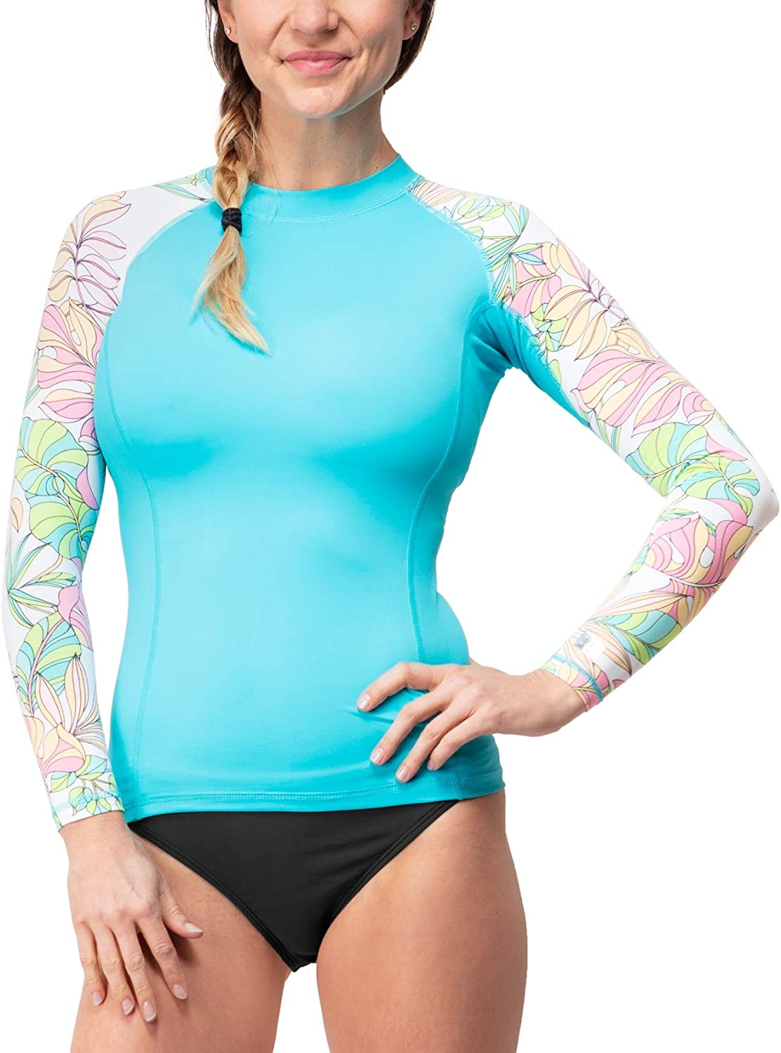 ISLAND DAZE Women's Rashguard - UPF 50 UV Sun Protection - Wetsuit Quick Dry Activewear