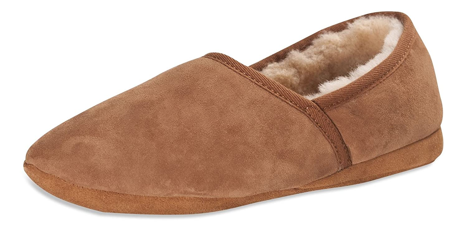 Nordvek Premium Hombre Genuine Double Sole Faced Sheepskin Slippers Soft Sole Double 461-100 935425