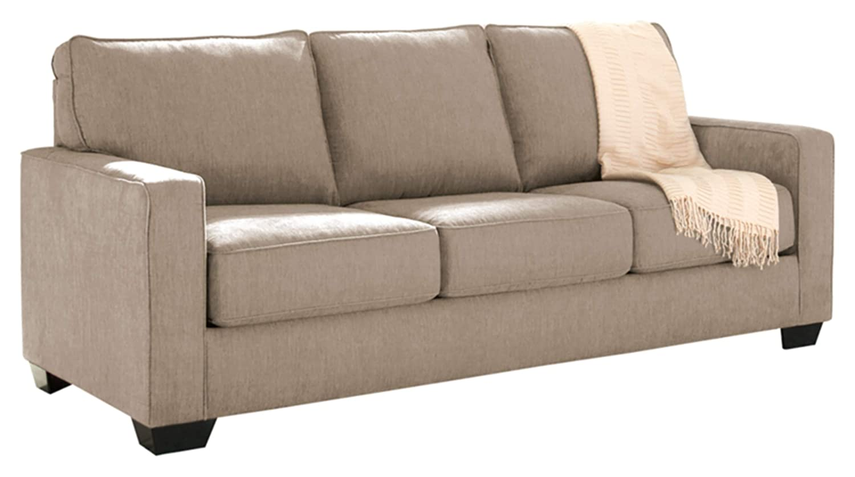 Amazon com ashley furniture signature design zeb sleeper sofa contemporary style couch queen size quartz kitchen dining