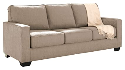 Ashley Furniture Signature Design - Zeb Sleeper Sofa - Contemporary Style  Couch - Queen Size - Quartz