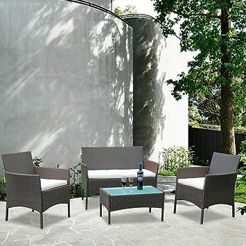 Hengda® Salon de jardin,Canapé de Jardin Salon de jardin ...
