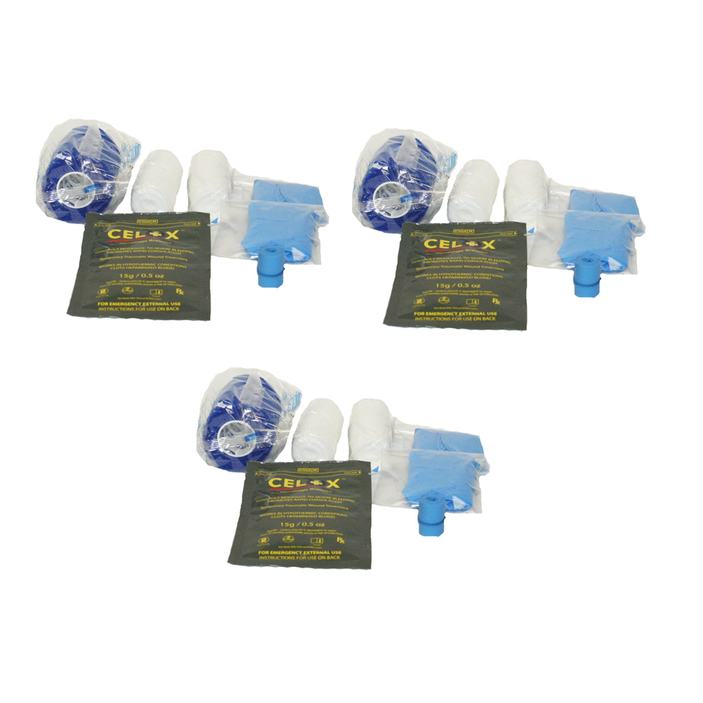 First Voice TS-ASK03 Plastic Deluxe Active Shooter Trauma Essentials Medical Kit Refill (Pack of 3)