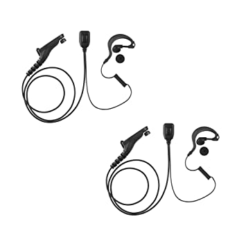 10 Pack Maxtop AEH1003-M9 G-Sharp Earhanger Earphone for Motorola MOTOTRBO XPR-6550 XPR-7350 XPR-7550 APX-6000