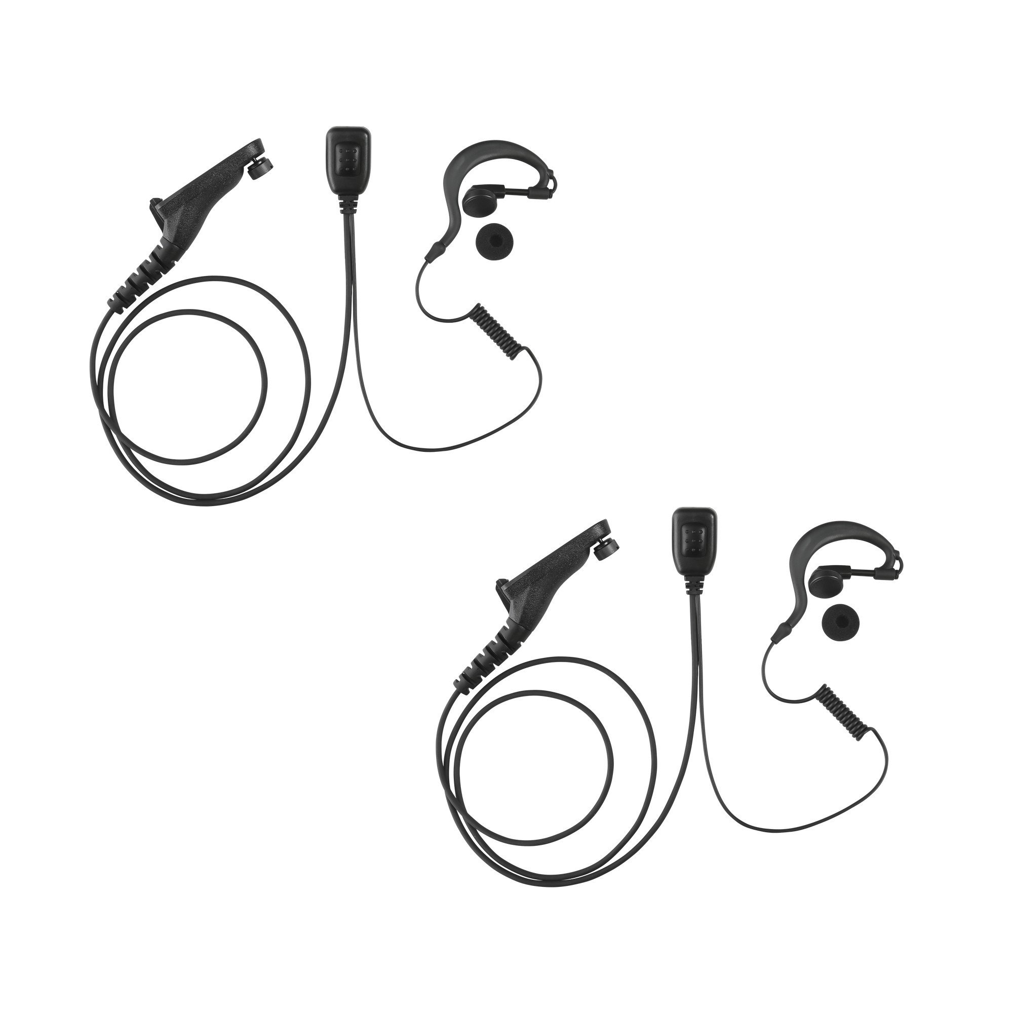 2 Pack Maxtop AEH1003-M9 G-Sharp Earhanger Earphone for Motorola MOTOTRBO  XPR-6550 XPR-7350 XPR-7550 APX-6000