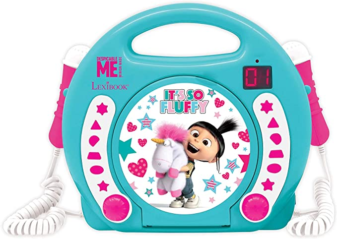 Despicable Me Fluffy CD Player With Mic RCDK1