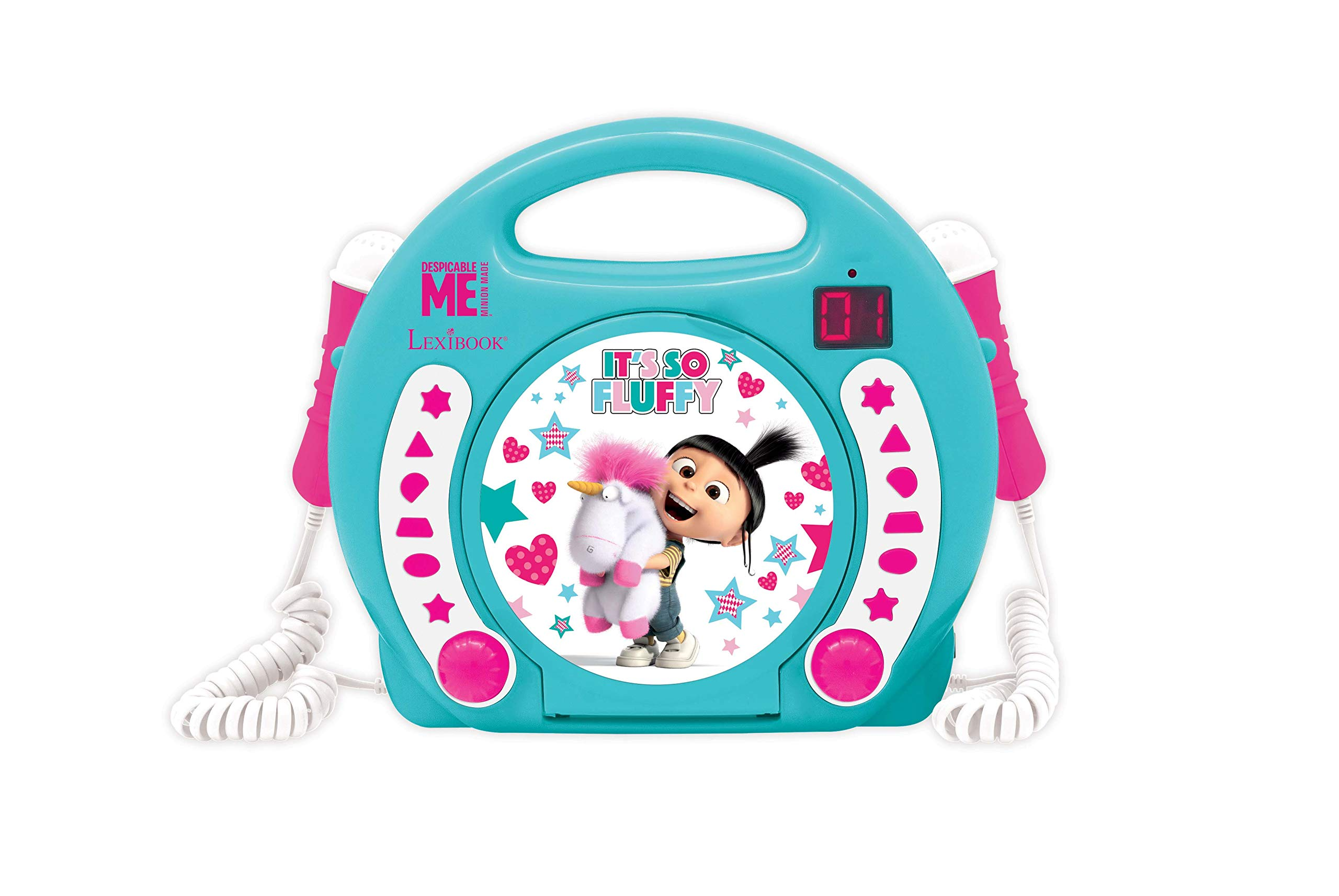 Despicable Me Fluffy CD Player With Mic (RCDK100DES1)