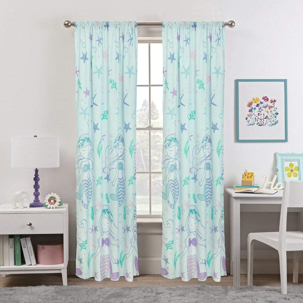Mystical Mermaid Window Curtains