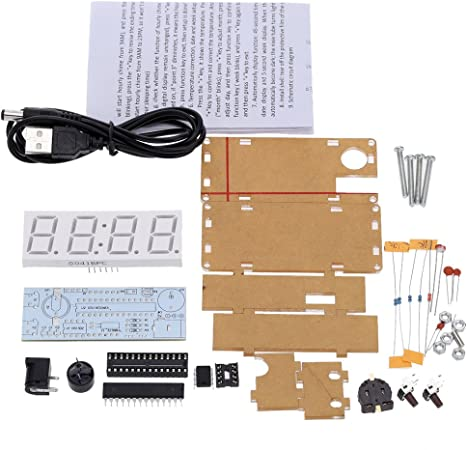 Digital 6 Digit Electronic Clock Kit with Instructions /& Batt backup UK Seller