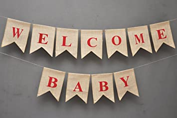 amazon com welcome baby banner party banner decoration banner new