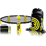 Spikeball 1 Ball Game Set - As Seen on Shark Tank - Played on Campus, Outdoors, Indoors, Yard, Lawn - Includes Playing Net, 1 Ball, Drawstring Bag, And Rule Book - Great Gift for Teens, Kids, Family