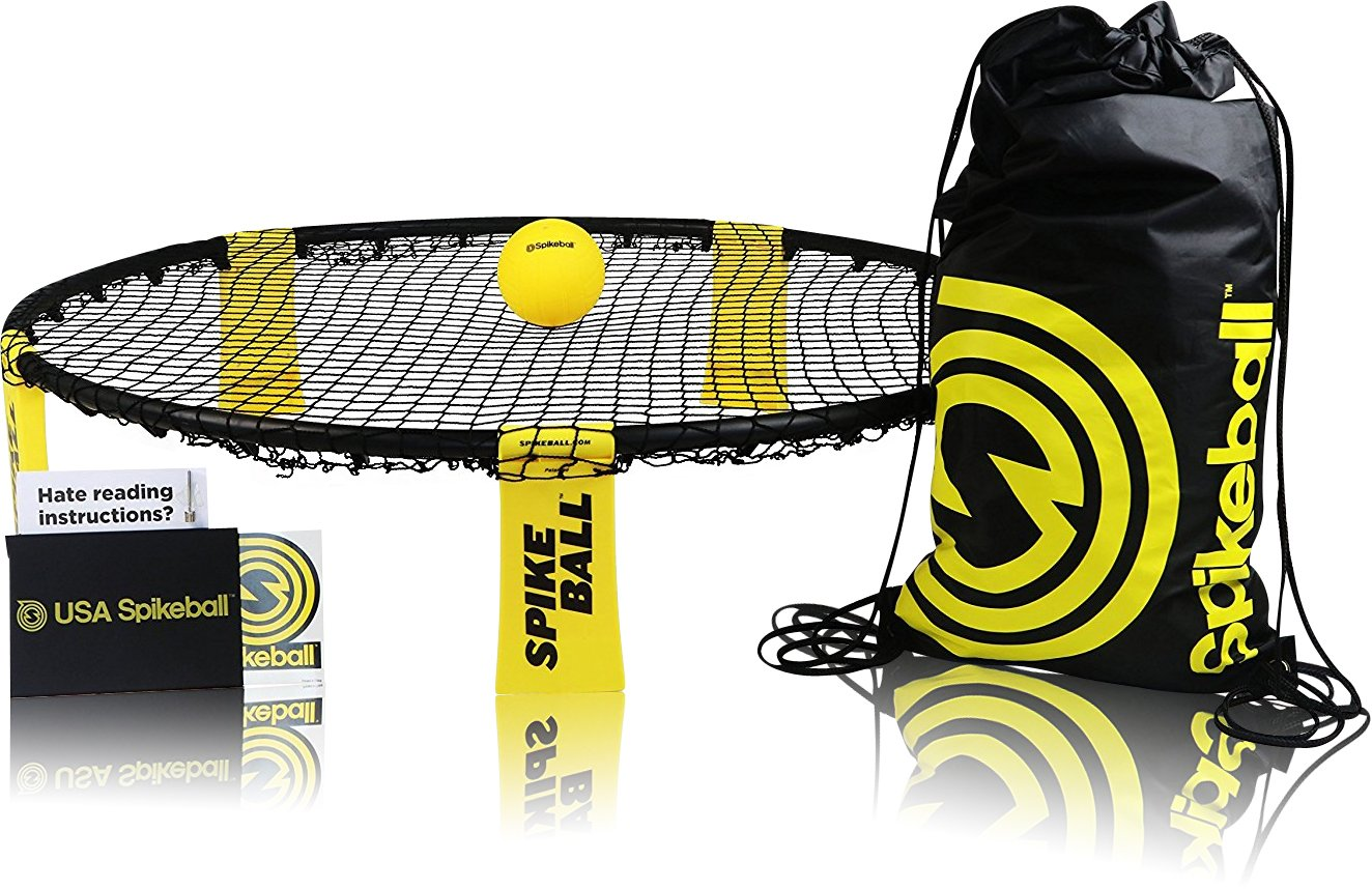Spikeball Game Set - As Seen on Shark Tank - Played Outdoors, Indoors, Yard, Lawn - Includes Playing Net, 1 Ball, Drawstring Bag And Rule Book - Great Gift for Boys, Girls, Teens, Kids, Family by Spikeball