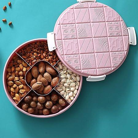 CLEAVE WAVES Creative Party Snacks Bandeja de Servicio con Tapa, Caja con Forma de Chocolate para Guardar refrigerios, nueces, Caramelos y Frutas,Pink: Amazon.es: Hogar
