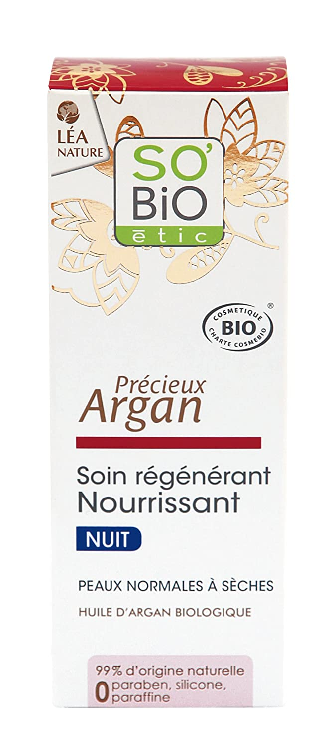 So' Bio ETIC cura Regenerant Nutriente Notte Ha l' Argan Bio tubo di 50 ml So' Bio Étic
