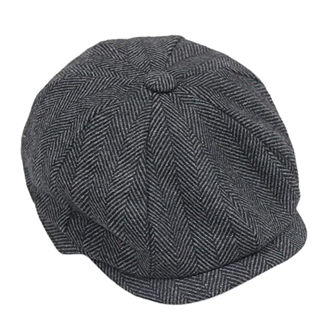 c7c4b21bf7ca4d Opromo Classic Men's Wool Blend Applejack Gatsby Newsboy Hat Ivy Collection  Hat-Beige Coffee Herringbone at Amazon Men's Clothing store: