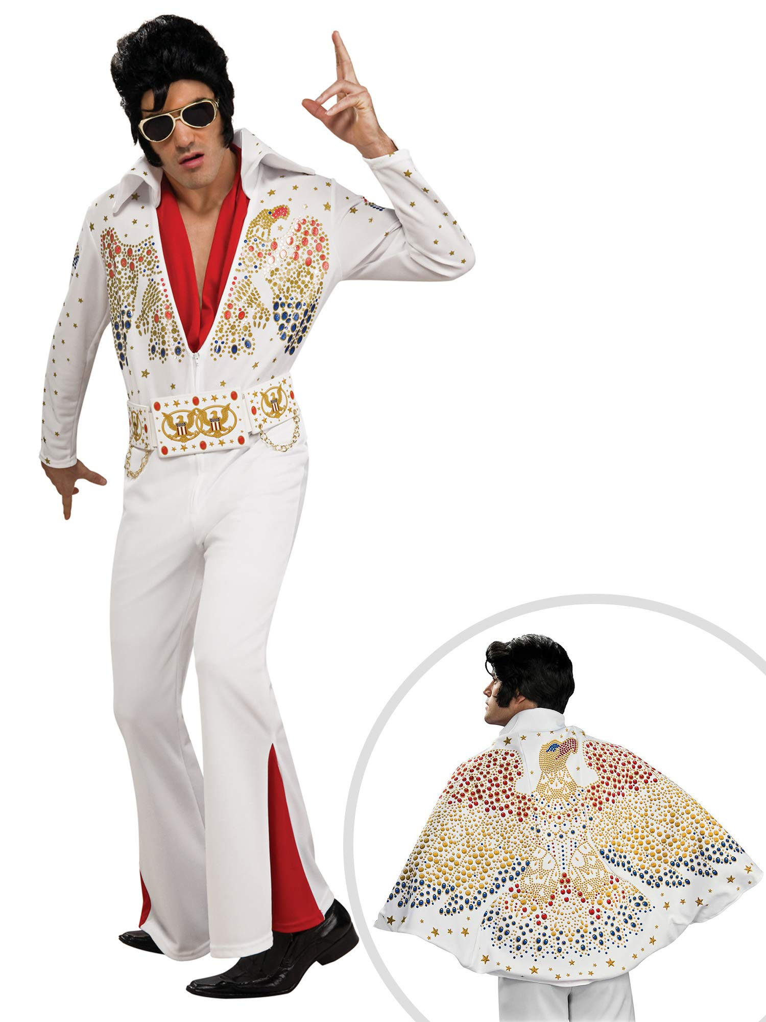 Elvis Costume Kit Deluxe Adult Large with Cape