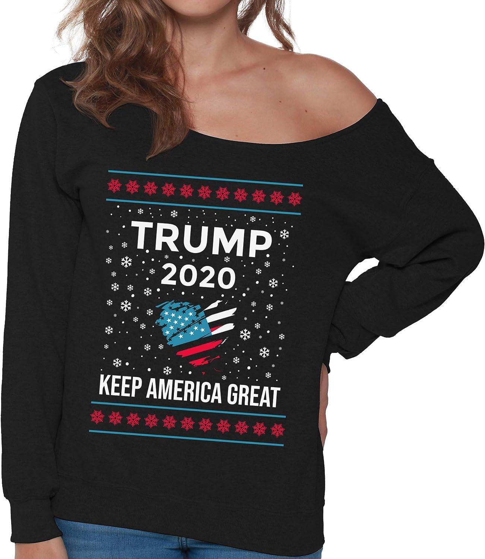 Pugly Christmas Sweater Women/'s Sponge Fleece Wide Neck Sweatshirt