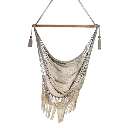 Amazon Com Handmade Hanging Rope Hammock Chair All Natural Indoor