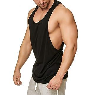 MUSCLE ALIVE Muskul/ös Herren Wesentlich Muskel /Ärmellos T-Shirt mit Crew Hals zum Bodybuilding Tanktops Hemden Baumwolle