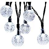 Innoo Tech Solar Globe String Lights 30 Led White Crystal Ball Patio Lights for Outdoor, Garden, Path
