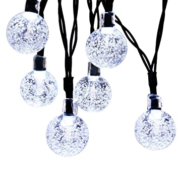 Innoo Tech Solar Globe String Lights 30 Led White Crystal Ball Patio Lights  For Outdoor,
