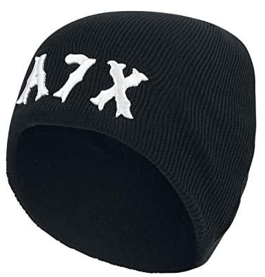 183d24023c3 Avenged Sevenfold Logo Beanie schwarz  Amazon.de  Bekleidung