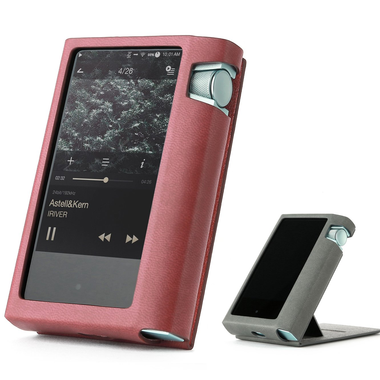 Astell&Kern AK70 AK 70 Hand Crafted Miter PU Leather Case Cover [Patented Stand Case] astell&Kern Leather case ak70 case (Redwine)