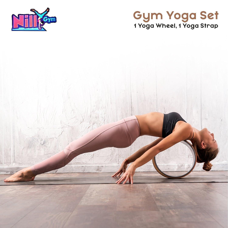 Nilly gimnasio Yoga - Juego de 1 Yoga rueda, 1 correa de ...