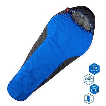 YAHILL saco de dormir para 3 estaciones para 0ºC, impermeable, ligero,