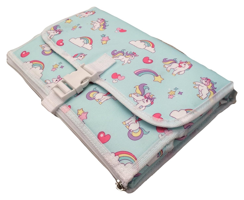 Portable Tapis à langer–pliant–Poids léger et facile à nettoyer–à langer–Oreiller doux poches à fermeture éclair–Motif licorne Generic