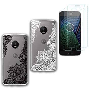 jrester 2 X Funda Motorola Moto G5 Plus,Totem Suavee Silicona ...
