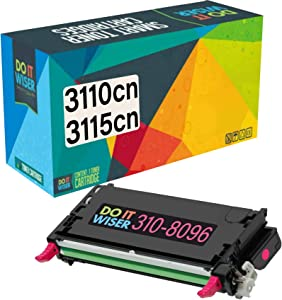 Do it Wiser Compatible Toner Cartridge Replacement for Dell 3110cn 3115cn 3110 3115 | 310-8096 - High Yield 8,000 Pages (Magenta)