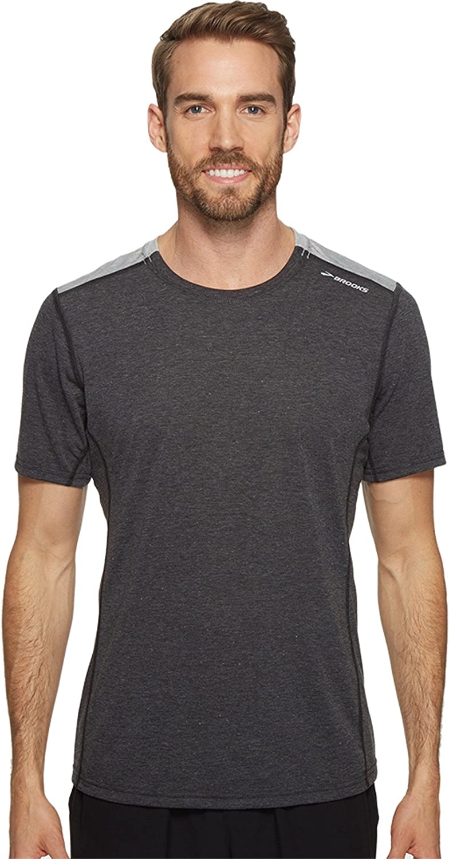 776a9160edc Brooks Mens Distance Short Sleeve Shirt at Amazon Men s Clothing store