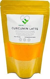 Curcumin Latte | 157.5g - 15 Porciones | 4 gramos de curcumina (95% curcuminoides) por ración | Con jengibre, canela,…