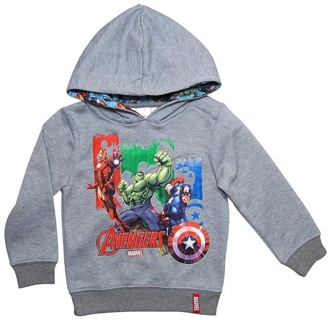 Marvel - Avengers - Sudadera con Capucha - para niño Gris 140/146 cm: Amazon.es: Ropa y accesorios