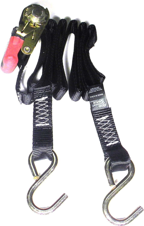 13-Feet Rod Saver Ratchet 1-inch Gunwale Tie-Down Rod Saver Marine Accessories R1GW13