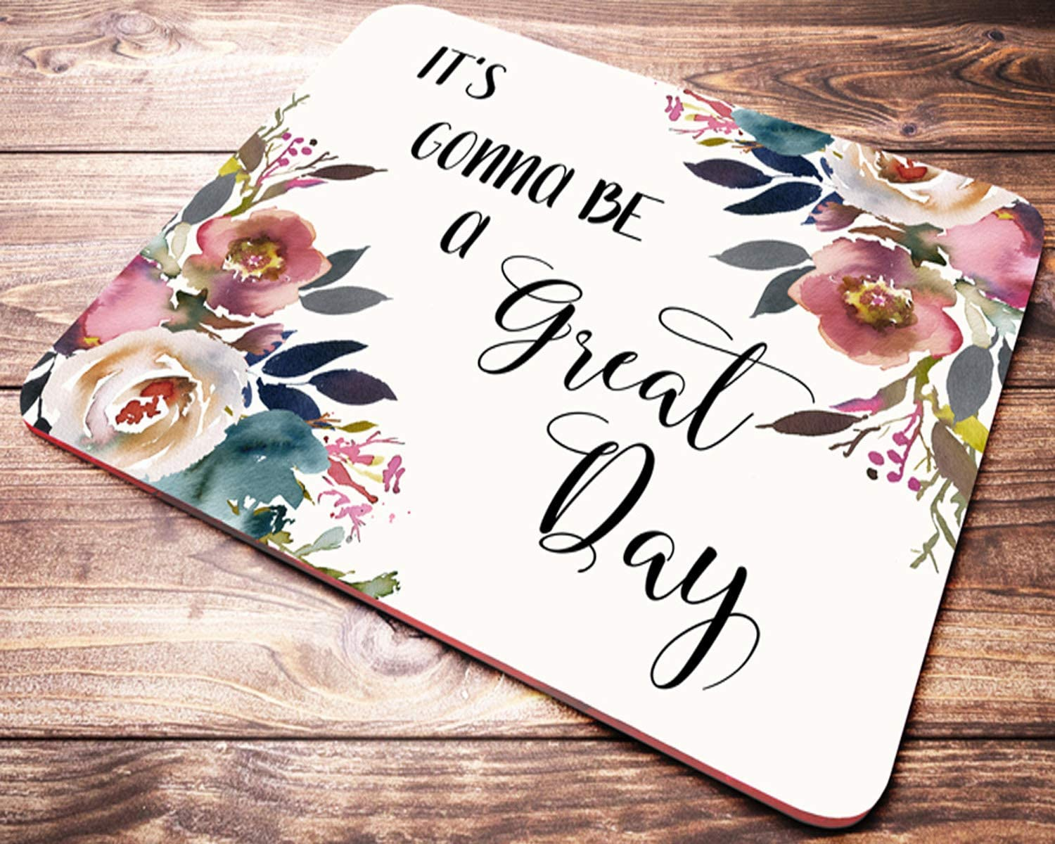 com quote mouse pad inspirational quotes floral teacher