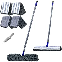 """Masthome 16.8"""" Double Sided Flat Mop Hardwood Floor Dust Mop Microfiber & Chenille Wet Dry Mop with 2 Mop Refills and…"""