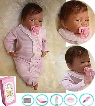 Amazon.es: HRYEOY Bebes Reborn Realistas 50 cm 20 Pulgadas Muñeca Reborn Vinilo de Silicona Suave Lifelike Baby Reborn Muñecas Bebé Recién Nacido Regalo de Juguete Muñecos Vistiendo Ropa Siamesa Reborn Niña: Juguetes