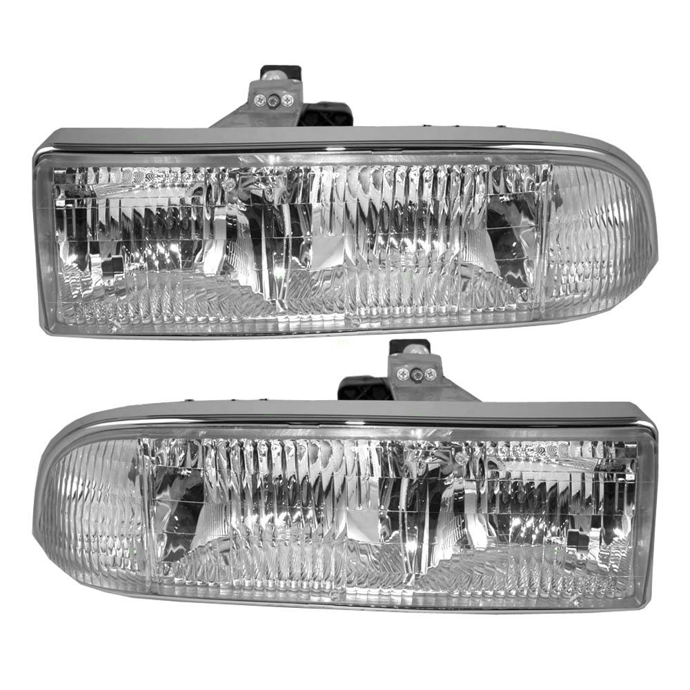 BROCK Driver and Passenger Headlights Headlamps Replacement for Chevrolet Pickup Truck SUV 16526217 16526218 AUTOANDART.COM