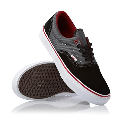 1febc064fb383b Vans Era Pro Skate Shoe - Men s Black Twill Scarlet