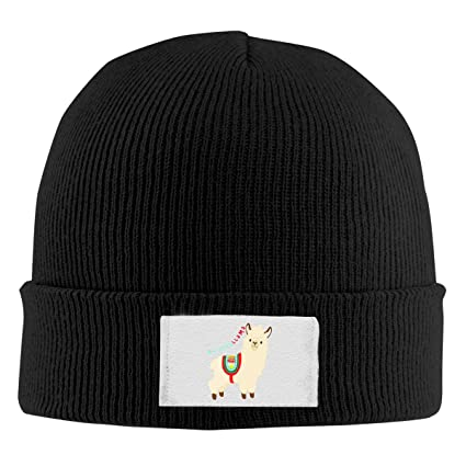 c1cfc4c92e7 LWI DIW Funny No Prob Llama Unisex Knit Winter Warm Cap Wool Cap Beanie Hat