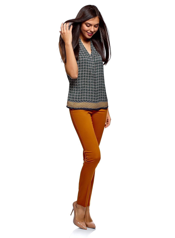 oodji Ultra Donna Pantaloni Basic Estivi